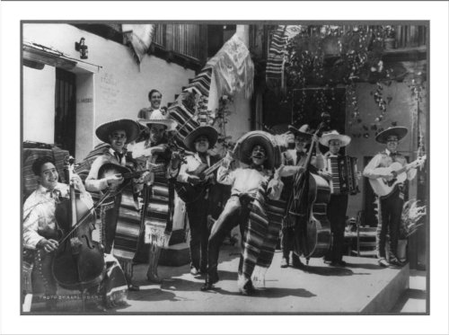 (Historic Print (L): Orchestra at Del Paseo Restaurant, Santa Barbara,)