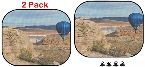 Luxlady Car Sun Shade Protector Block Damaging UV Rays Sunlight Heat for All Vehicles, 2 Pack Image ID: 34115807 hot air Balloon Floating Over The Glen Canyon Dam in Arizona]()