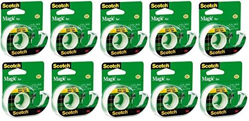 Scotch Magic Tape, 3/4 x 300 Inches, (3105) - 10 Rolls (Scotch Magic)