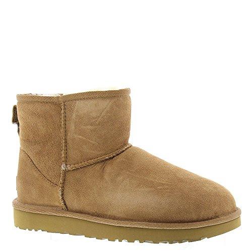 Ugg Australia Womens Classic Mini Ii Sheepskin Boot Chestnut 8 M Us