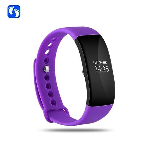 Gran pantalla táctil USB Conector directamente carga Fitness pulsera móvil reloj con pulsómetro, – Tensiómetro