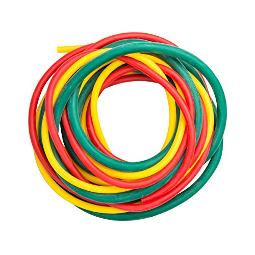 Cando 10-5380 Yellow/Red/Green Low-Powder Exercise Tubing PEP Pack, Easy Resistance (Pep Therapy)