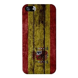 Grunge de bandera de España–bandera de España–bandera de Espana–La madera rojigualda Full Wrap Case Impreso en 3d gran calidad, para iPhone 5/5S de UltraFlags