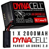 2000mAh Upgrade Battery for Parrot AR Drone 2.0 by CELL DYNAMICS