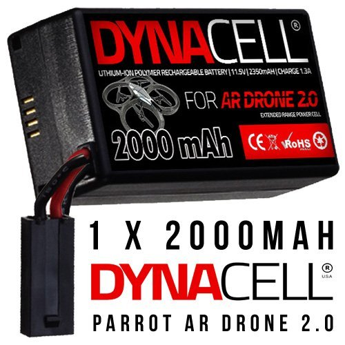 2000mAh Upgrade Battery for Parrot AR Drone 2.0
