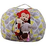 AmyDong Storage Box,Clearance Home Storage Bag Plush Kids Stuffed Animal Plush Toy Storage Bean Bag Soft Pouch Stripe Fabric Chair (A)