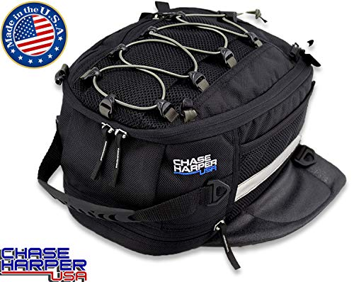 (Chase Harper 650M Black Magnetic Sportbike Tank Bag - 9.5 Liters)