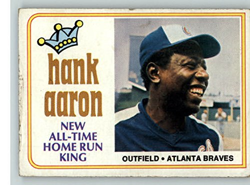 1974 Topps #1 Hank Aaron Braves VG-EX 328209 Kit Young Cards