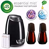 Air Wick Essential Oils Diffuser Mist Kit (Gadget + 2 Refills), Lavender & Almond Blossom & Fresh Water Breeze