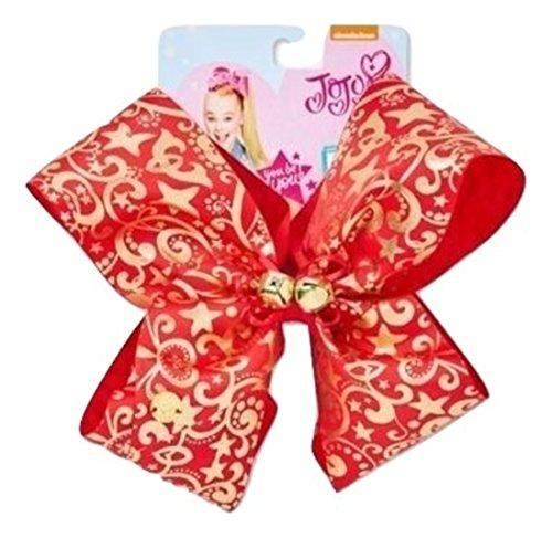 Jingle Bows - Jojo Siwa Gold & Red Jingle Bells Holiday Chirstmas Hair Dance Fashion Bow