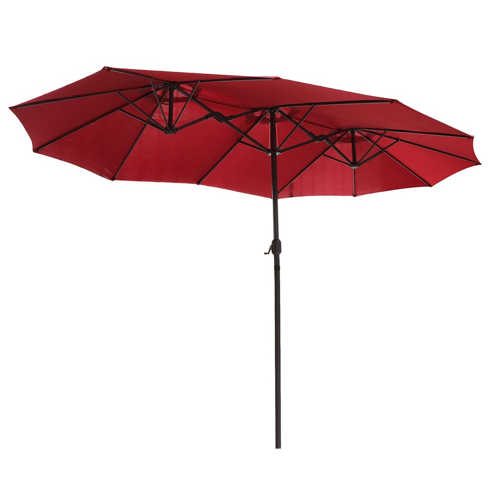 Beautiful Le Papillon 14 Ft Market Outdoor Umbrella Double Sided Aluminum Table Patio  Umbrella With Crank, Burgundy   LPD148BN U003c Umbrellas U003c Patio, Lawn U0026 Garden    ...