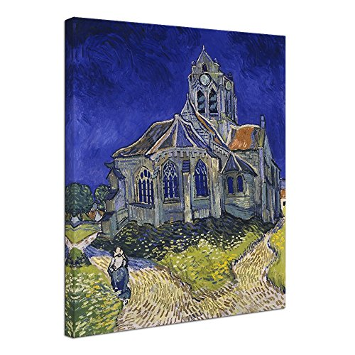 (Wieco Art Church at Auvers Giclee Canvas Prints Wall Art by Vincent Van Gogh Famous Paintings Reproduction Modern Classic Abstract Artwork Landscape Pictures for Wall Decor Home Office Decorations)
