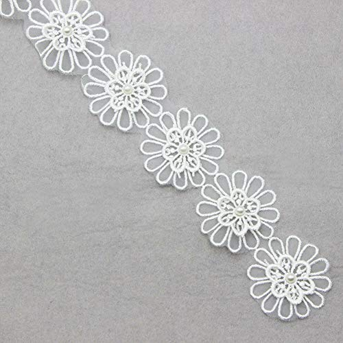 Multi Pattern 2 Yards Applique Venise Lace Trim Wedding Bridal Dress Ribbon DIY (Pattern - #2)