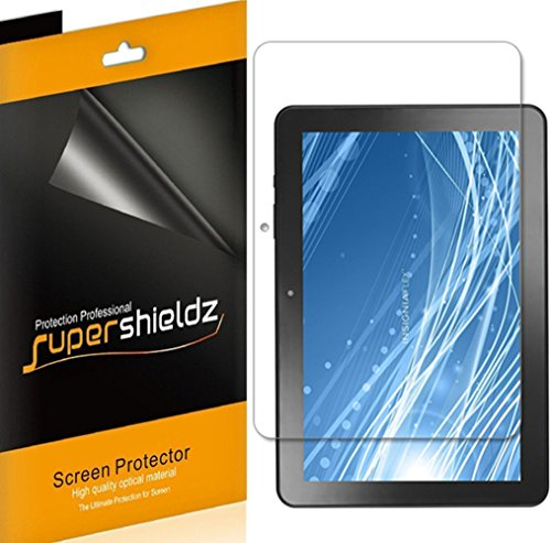 Supershieldz (3 Pack) for Insignia 10 inch, and 10.1 inch Flex (NS-P10A7100, NS-P10A8100) Screen Protector, Anti Glare and Anti Fingerprint (Matte) Shield