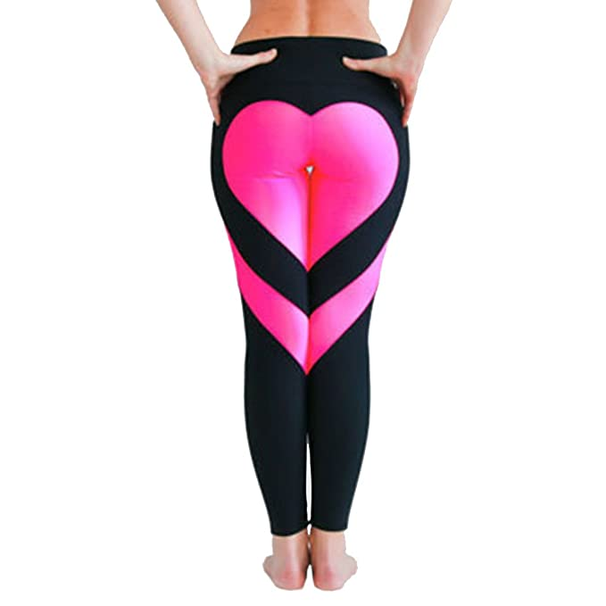 Amazon.com: xize Push Up Leggings mujeres amor, Impreso ...