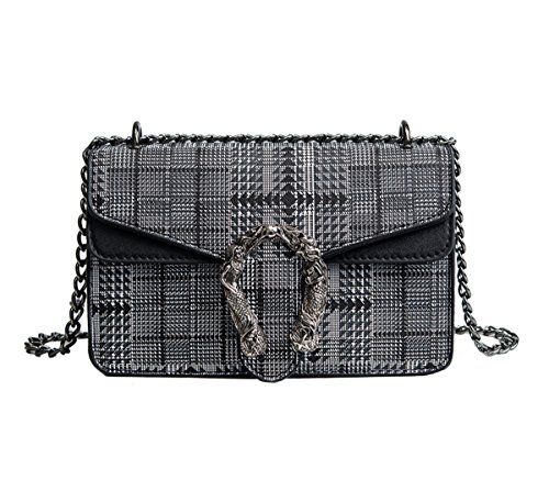 Dabagh Crossed Another Skin Bag One Size Womens Black