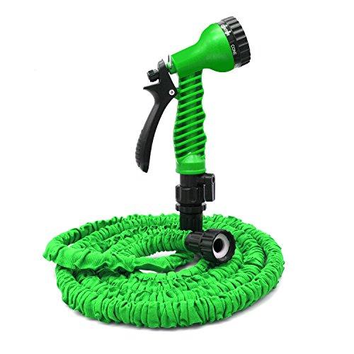 Freehawk® 25 Feet Garden Hose, Water Hose, Hose Reel, Best Hoses, Expandable Garden Hose, with Free 7-way Spray Nozzle Flexible Hose(Green)