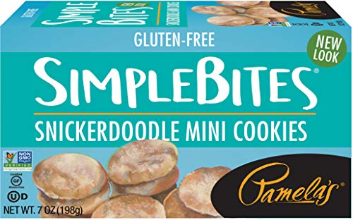 Pamela's Products Gluten-Free Simple-Bites Mini Cookies, Snicker Doodle, 7 Ounce
