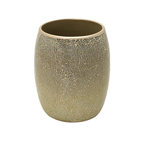 k Huntington Waste Basket, Gold Cracked Glass ()
