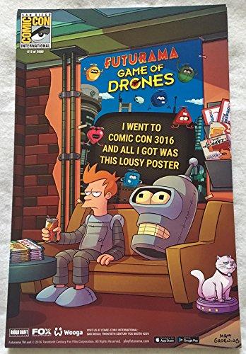 futurama-game-of-drones-11x17-original-promo-tv-app-game-poster-sdcc-2016-xxxx-2000