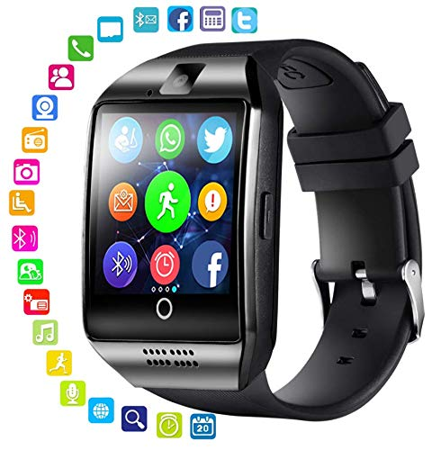 Smart Watch,Smartwatch for Android Phones, Smart Watches Touchscreen with Camera Bluetooth Watch Phone with SIM Card Slot Watch Cell Phone Compatible Android Samsung iOS Phone Men Women Kids