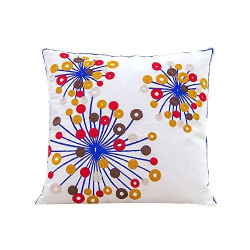 Monkeysell Christmas Embroideredd Decorative Pillowcase