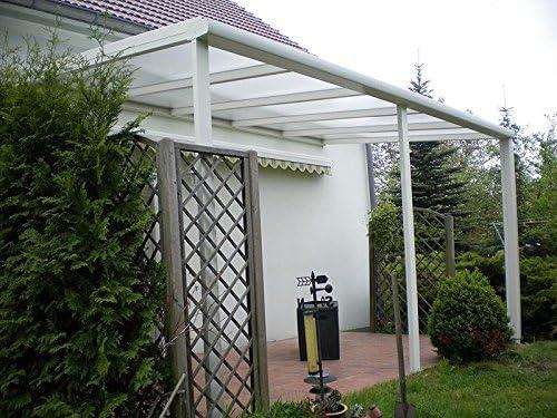 Aluminio prikker-überdachungen 700 x 400 cm ajuste de inclinación variable überdachung: Amazon.es: Jardín