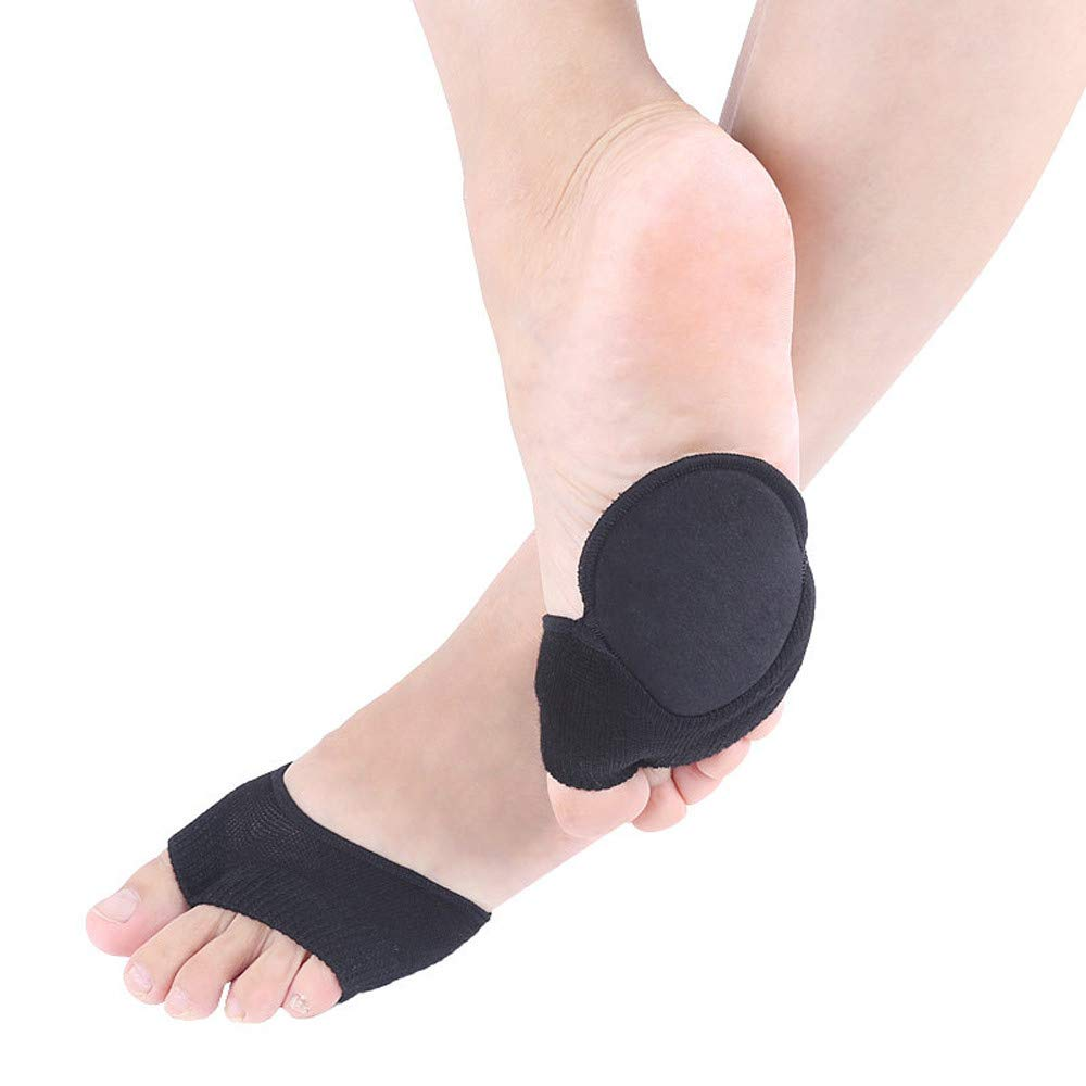 USHOT Sweat-Absorbent Cotton Thin Section Two-Toe Non-Slip Thumb Aligner Lady With Pad