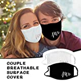 USA Stock 2PCS Bride and Groom Face_Mask for