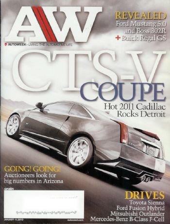 - AutoWeek Magazine, January 11, 2010