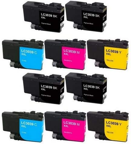 4-BK//2-C//M//Y LC-3039-4BK2CMY SuppliesMAX Compatible Replacement for Brother HL-6000//MFC-J5845//J5945//J6545//J6945DW Ultra High Yield Inkjet Combo Pack