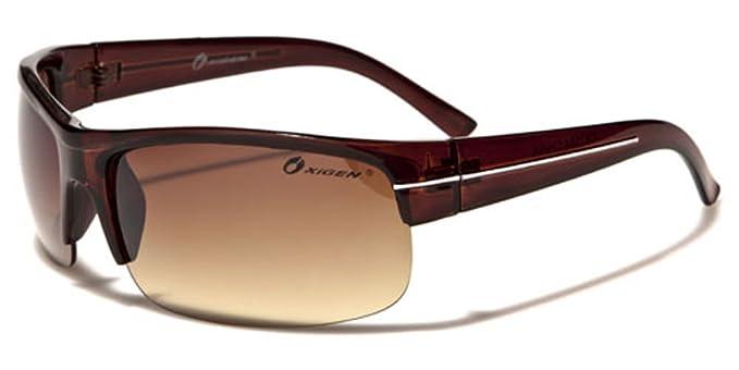 Oxigen - Gafas de sol - para hombre marrón BROWN/WHITE LINE ...