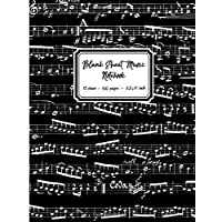 Blank Sheet Music Notebook: Black Music Notes cover