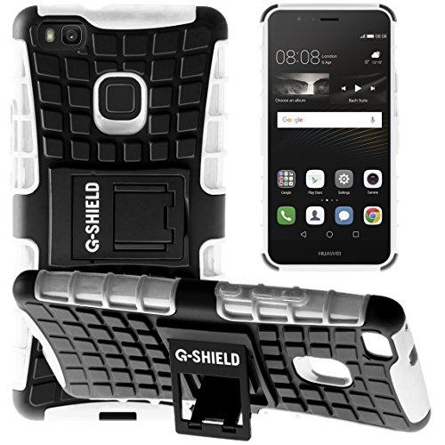 Funda Huawei P9 Lite, G-Shield Carcasa Extremo Protección [Con Soporte] [Anti-Arañazos] [Anti-Choque] [Muy Resistente] Híbrida a Prueba de Golpes Case Cover Para Huawei P9 Lite - Rojo Blanco