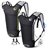 U`Be 2Pack Hydration Backpack Water Pack - Camelback for Running Hiking Biking - Camel Backpack with 2l Water Bladder
