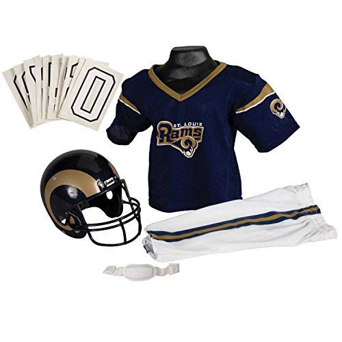 Franklin Sports NFL St. Louis Rams Deluxe Youth Uniform Set, Medium Saint Louis Rams Set
