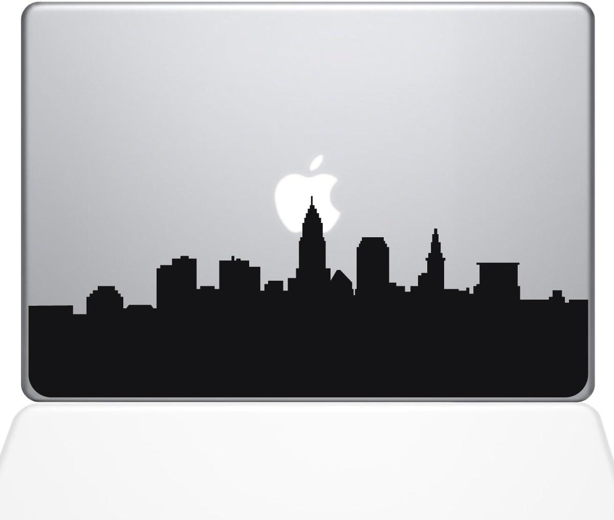 "The Decal Guru Cleveland OH City Skyline Decal Vinyl Sticker, 13"" MacBook Air, Black (2356-MAC-13A-BLA)"