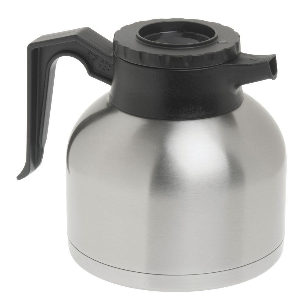 "Coffee Decanter 1.9 L Brew-Thru Stainless Steel - 8""L x 6 1/4""W x 7""H"