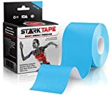 Kinesiology Tape   Designed to Help Boost Athletic Performance, Prevent Joint, Muscle Pain and Ease Inflammation   Uncut with Bonus eBook by StarkTape (Light Blue, 5 cm x 5 m)