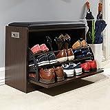 banc chaussures avec coussin rangement pour chaussures d 39 entr e cuisine maison. Black Bedroom Furniture Sets. Home Design Ideas