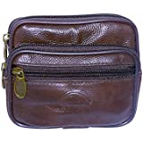 Belt Pouch holder Pocket Travel Wallet Undercover Money Belt Brown Pouch Outdoor Casual Utility Pouch / Wallet