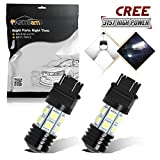 2008 dodge avenger 3 brake light - Partsam 2x 3157 3156 12W Cree Backup 7000K Xenon White High Power Daytime Running Reverse Brake Tail Light For Ford Buick Cadillac Chevrolet Chrysler Jeep Mazda Mercury GMC Toyota Dodge