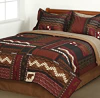 Southwest Cabin Bear King Comforter Set (8 Piece Bed In A Bag)
