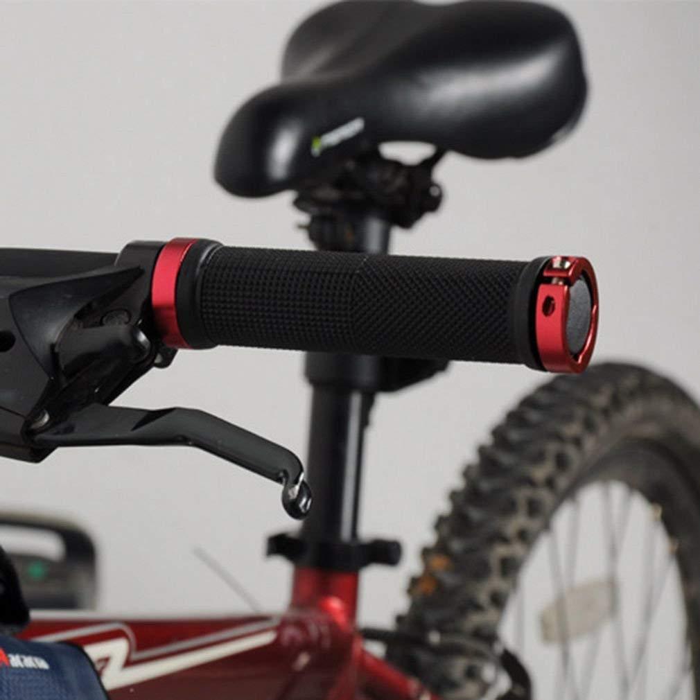 1 par de Goma y aleaci/ón de Aluminio Antideslizante Ciclismo Bicicleta Tipo de Tubo Tubo Antideslizante de Goma Pu/ños