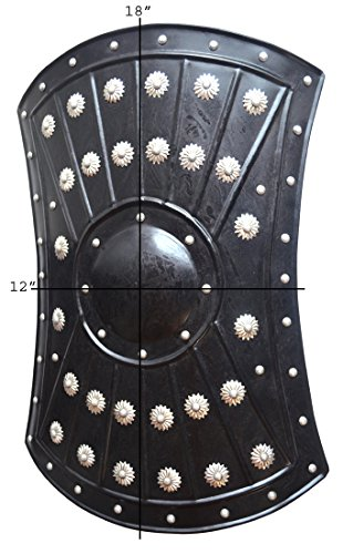 "Medieval Barbarian Armor Templar Viking 18"" Iron Shield ABS"