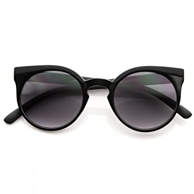 0a17903edbc Sunglasses KISS - mod. ROUND style RIHANNA - cool fashion WOMAN rockabilly  vintage ROUND - BLACK  Amazon.co.uk  Clothing