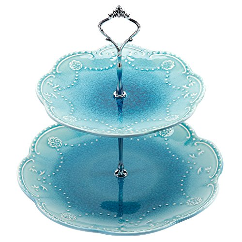 Ceramic Cupcake Display Dessert Turquoise