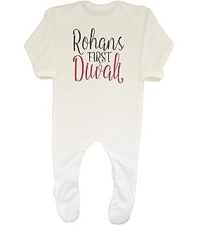 My 1st Diwali Personalised Baby Grow Vest Custom Funny Gift Cute 07