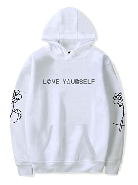 ee5f33f2d8a4b7 SIMYJOY Lovers Bangtan Boys Love Yourself Felpe con Cappuccio BTS KPOP  Pullover Hip Hop Felpa Top per Uomo Donna Adolescente: Amazon.it:  Abbigliamento