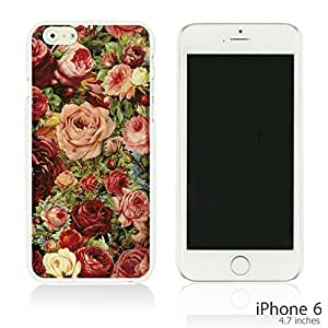 OnlineBestDigital - Fabric Pattern Hard Back Case for Apple iPhone 6 (4.7 inch)Smartphone - Vintage Roses Painting